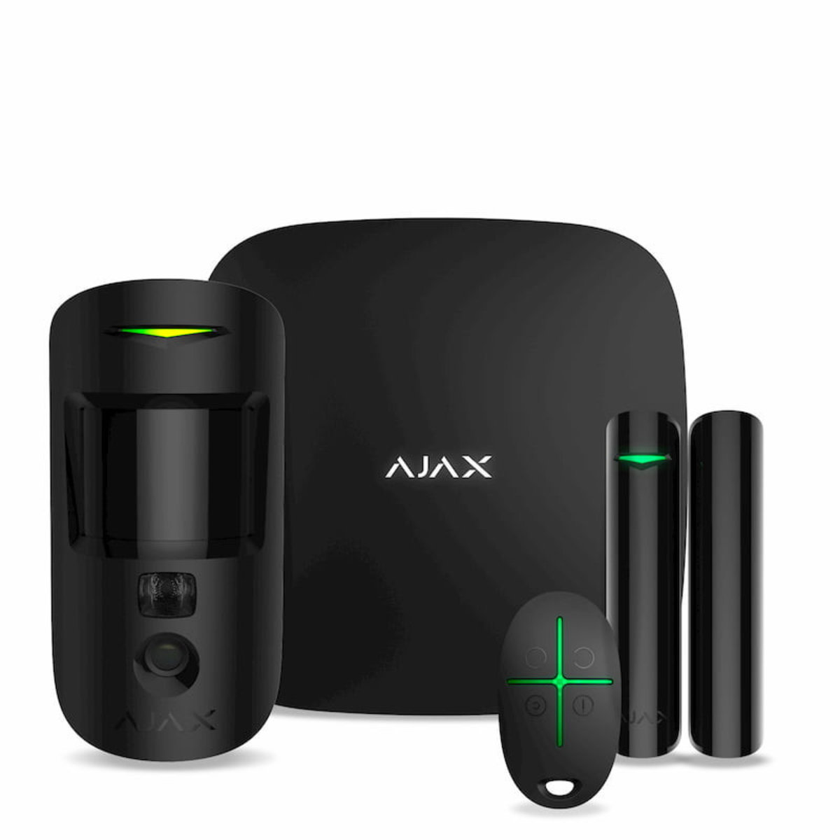 Ajax, StarterKit Cam black EU комплект охоронної сигналізації